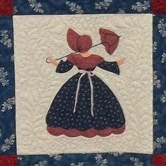 Sunbonnet Sue Southern Belle Quilt por PrairieCottageCorner