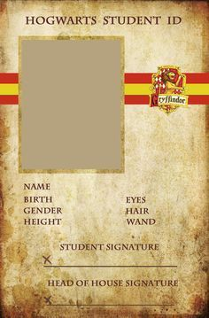 Gryffindor ID.. It is embarrassing that I would so do this? Realizing that my Harry Potter addiction is a little over the top:)