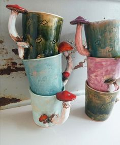 Blue Mushroom Mug/ Handmade mug / dinnerware /Forest Cup/ tea cup/ Handmade cup … Blue Mushroom Mug/ Handmade mug / dinnerware /Forest Cup/ tea cup/ Handmade cup / Amanita mug/Coffee mug / gift/ gift for her /ceramics mug pottery ceramic Ceramic Pottery, Ceramic Art, Slab Pottery, Ceramic Mugs, Ceramic Bowls, Pottery Vase, Mugs Sharpie, Clay Projects, Projects To Try