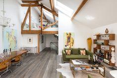 Casinha colorida: Um loft Rústico Chic com ares sessentinha