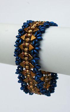 Kheops par Puca Bracelet  Beadwoven Golden by craftybeadcollection