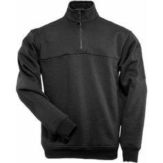 5.11 Tactical 1/4 Zip Job Shirt, Black, Men's, Size: Large