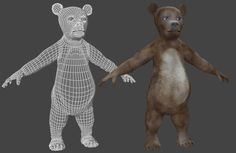 I am creating a new figure for Poser, this time a toon character, a bear, Joe the bear. More updates soon.  It was modelled in wings3d