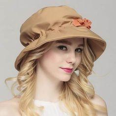 Spring summer flower bucket hat for women UV sun hats package