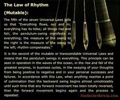 Law of Rhythm