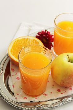 Carrot Juice with Apple and Orange