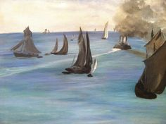 Manet - Steamboat Leaving Boulogne