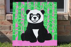 Panda Bear With Bamboo by ShootingStarsArt on Etsy, $50.00
