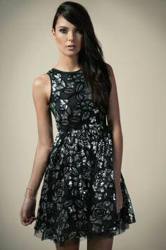Boutique Chloe Rose Sequin Party Dress