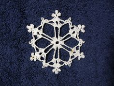 Summary This is the second of three snowflakes in the 'Crochet a Snowflake Gift Topper' article. There is no picture of this one in the article. Also in the article: Chain Loop Snowflake and Star Snowflake.