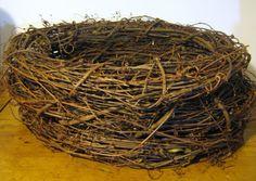 Bird's Nest -- stack grapevine wreaths