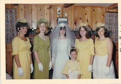 1966 bride with her attendants