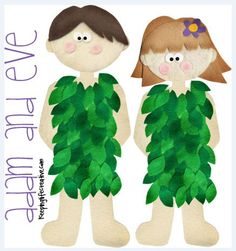 Adam and Eve Flannel Board Printables