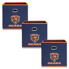 My Owners Box NFL Fabric Storage Bin NFL Team: Chicago Bears