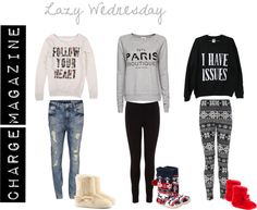 """Lazy Wednesday"" by chargemagazine on Polyvore"