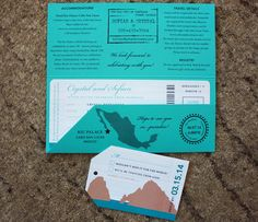 Boarding pass wedding invitations ~ My Best Buys