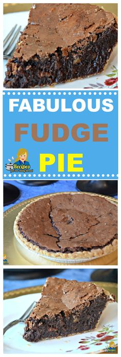 Best Fudge Pie – YUM This is not a Chocolate Pie and it is not a Brownie Pie. This pie is the best gooey Chocolate Fudge Pie with Pecans ever. It is also my Favorite Pie! Chocolate Fudge Pie, Chocolate Chip Cookie Dough, Best Chocolate, Chocolate Desserts, Fudge Brownie Pie, Christmas Chocolate, Chocolate Chocolate, Köstliche Desserts, Delicious Desserts