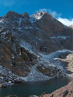 Chasm Lake, Longs Peak, Rocky Mountain National Park, Colorado