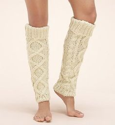 Chunky Cable Knit Leg Warmers