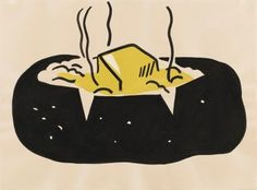 Roy Lichtenstein, Baked Potato, 1962. Brush and india ink and synthetic polymer paint. The Museum of Modern Art, New York; Gift of Abby Aldrich Rockefeller (by exchange). 385.1984. Digital Image © The Museum of Modern Art/Licensed by SCALA / Art Resource, NY / The Museum of Modern Art, New York, NY, USA © Estate of Roy Lichtenstein / VBK Vienna, 2011
