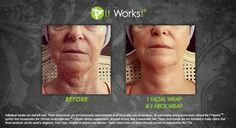 Results After one Facial Wrap and One Neck Wrap, Get yours at http://doyourbodygood.myitworks.com