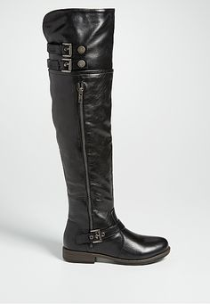 tia knee high boot with buckles in black (original price, $59) available at #Maurices