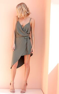 Slinky little wrap...totally feminine and fabulous for Summer day or night. Super flattering!