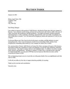 cover letter for waitress