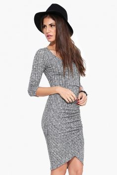 50 Shades Of Grey Dress in Heather grey | Necessary Clothing