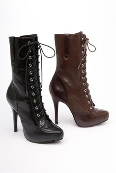 Lovely High Heel Lace Up Boots Photo Inspirations