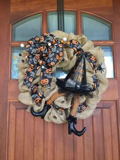 A personal favorite from my Etsy shop https://www.etsy.com/listing/535422196/halloween-wreathwitch-wreathfall