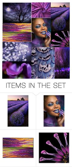 World of Vibrant Purples by crystalglowdesign on Polyvore featuring art