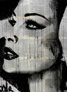 "Artist: Loui Jover; Ink 2014 Drawing ""fate and destiny....SOLD"""