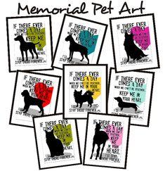 Dog Memorial Art, Cat Memorial Art, Horse Memorial Art Print