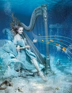 Music heals your soul. Fantasy Images, Fantasy Art, Music Heals, Sea Art, Disney Characters, Fictional Characters, Game Of Thrones Characters, Fairy, Disney Princess