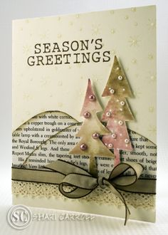 ...my world: Sharing a week with Joy Taylor: Day 4. pretty Christmas card!