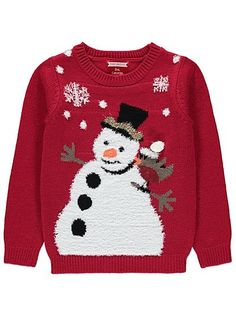 Cute Christmas Jumpers - Christmas Light Up Snowman Jumper | Kids | George at ASDA