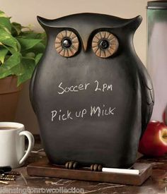 Owl Chalkboard Kitchen Chalkboard Menu Board Message Board Chalk Board | eBay