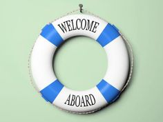 """I'm already making life preserver center pieces; I should make another that says """"Welcome Aboard 29 Palms Military MOPS"""" Cruise Theme Parties, Cruise Ship Party, Party Themes, Titanic Wedding, Sailing Party, Bon Voyage Party, Life Preserver, Welcome Aboard, Challenges"""
