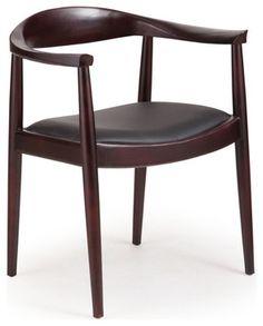 Zuo Modern Greenwich Side Chair in Dark Walnut & Black Cushion [Set of modern-dining-chairs Rustic Dining Chairs, Contemporary Dining Chairs, Dining Arm Chair, Dining Room Chairs, Contemporary Furniture, Dining Area, Contemporary Style, Desk Chairs, Side Chair
