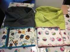 Baby snuggle quilts, one for each for some gorgeous twins