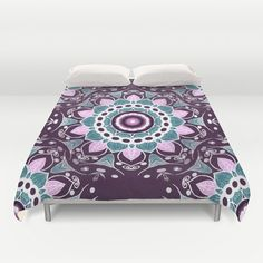 Duvet cover, colorful bedding, colorful Bedroom décor,mandala duvet cover,purple duvet covet, colorful duvet cover, pink duvet cover, purple #duvetcover #saribelleart