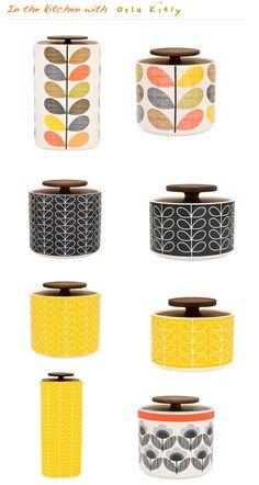 Orla Kiely canisters!