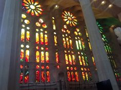 Colored mirrors. Sagrada Familia. Barcelona