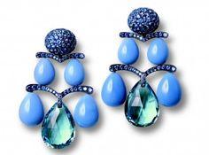 Hemmerle Aquamarine Briolettes Opal Sapphire drops
