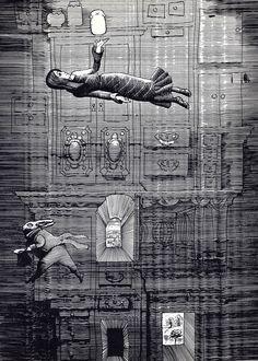 """Иллюстрации к """"Алисе..."""" Калиновского — Ловец чудес"""