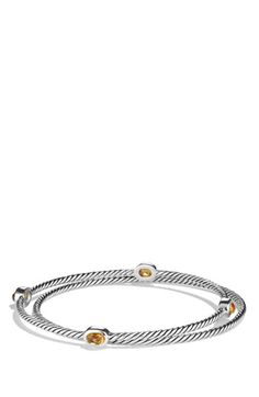 David Yurman 'Color Classics' Bangles with Stones (Set of 2) available at #Nordstrom