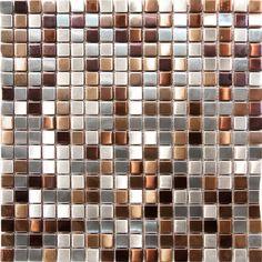 1SF Stainless Steel Metal Gold Silver Copper Mosaic Tile Kitchen Backsplash Wall