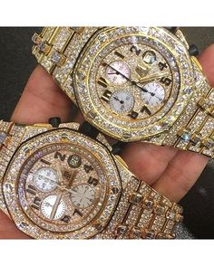 Bust down Audemars Piguet watch. Who can tell the difference?