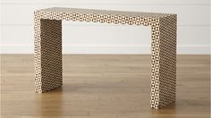 Want for Entry Way: Intarsia Console Table | Crate and Barrel